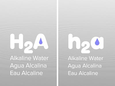 h2a Alkaline Water product design proxima nova soft big softie ph brand 5757ff identity branding alkaline water water alkaline h2a