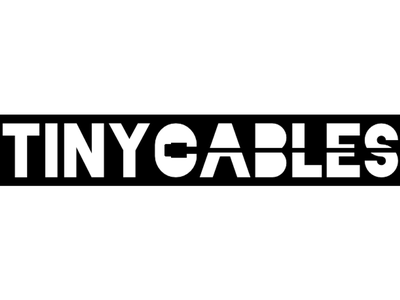 Tiny Cables Logo Exploration remix black and white white black negative space exploration rebound tiny cables tinycables.com tinycables