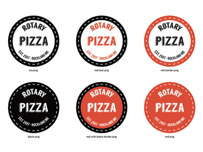 Variations on a theme - pizza parlor logo valencia d84d3d curved text pizza rotary langdon logo variations