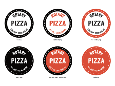 Variations on a theme - pizza parlor logo