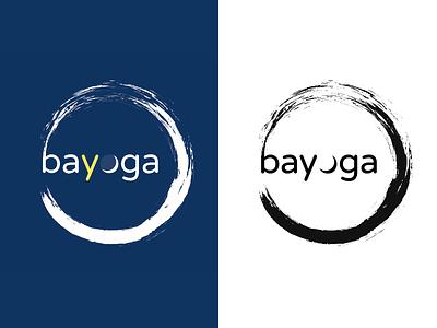 Bayoga Logo For Dribbble blackwhite color logo paris daisy biscay moon zen circle enso circle yoga varela round