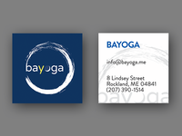 Business card for a yoga studio