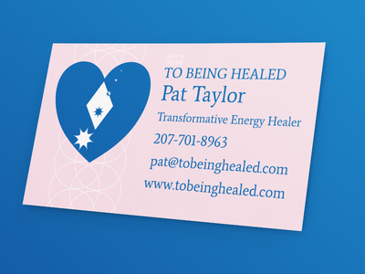 Business card and identity for a healer ffe3eb 0066b4 average identity multidimensional lens flare octogram starburst heart diamond business card healer