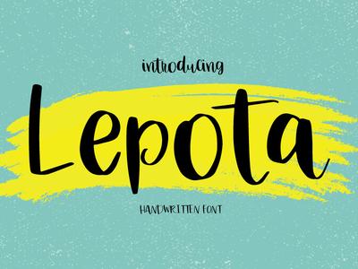 Lepota | Handwritten Font