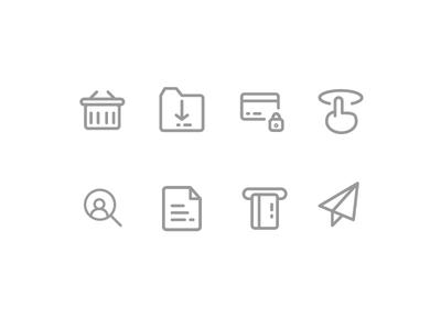 E-commerce & Shopping online icons