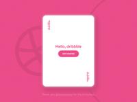 Hello Dribbble 👋🏻