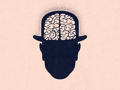 Crooked Road idea psychology concept editorial illustration mind head