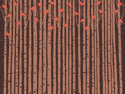 In The Forest textures tales fairy tales illustrations night birds bird forest
