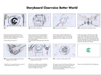Clearvoice Better Content, Better World  Sketch Storyboard motion animation motion graphics sneak peek design art inspiration planner template planning learning project illustration animation voice over ideas drawing sketch sketching storyboard artist storyboarding storyboard behind the scenes
