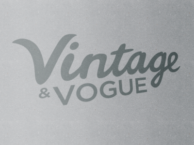 Vintage Lettering Update
