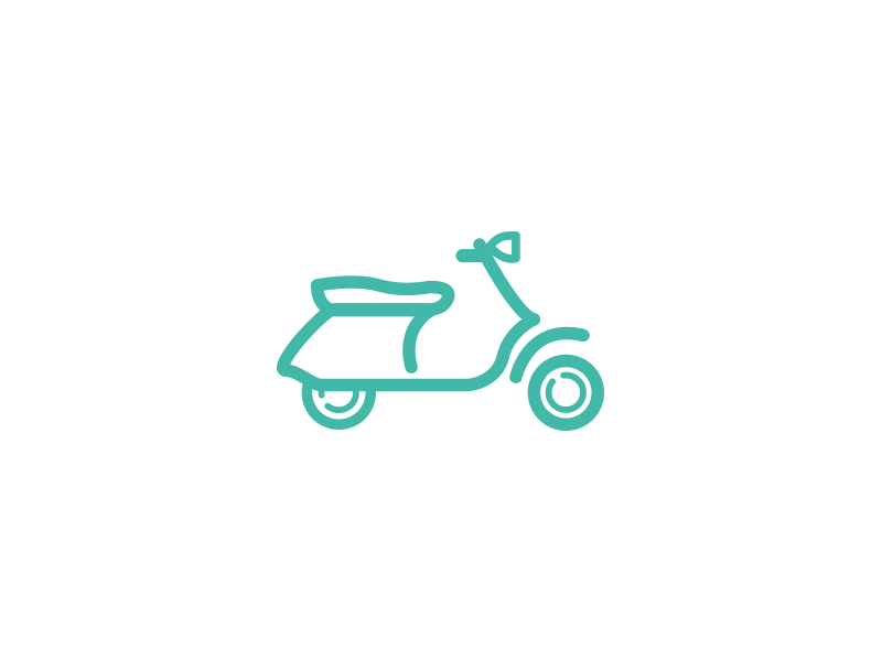 Moped Icon insurance vehicle vespa moped icon