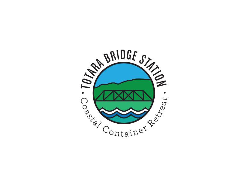 Totara Bridge Station 2 coastal hills river sea bridge