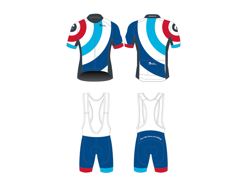 Personal Kit v1 cycling jersey blue red circle roundel cycling kit cycling
