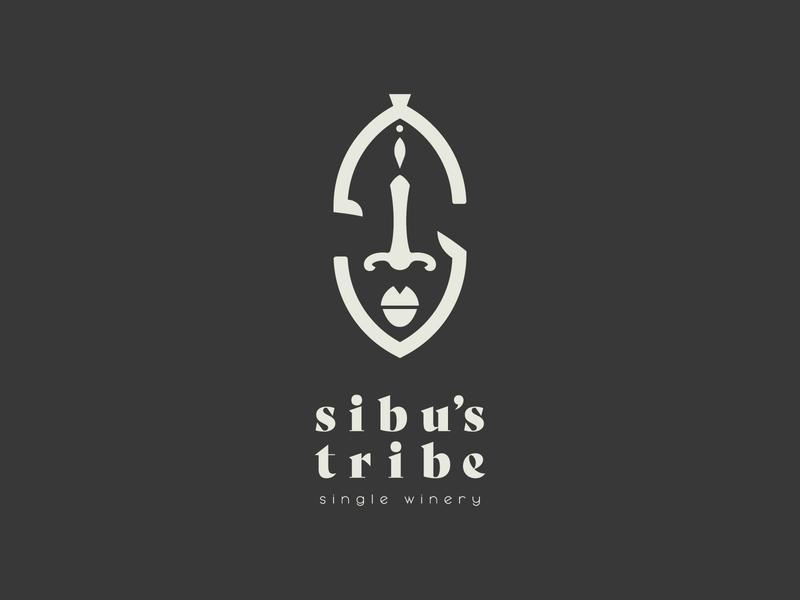 Sibu's Tribe Logo zimbabwe zimbo freelance minimal graphic design design mask mzansi south africa winery wine african africa tribe brand mark branding brand logo designer logo design logo