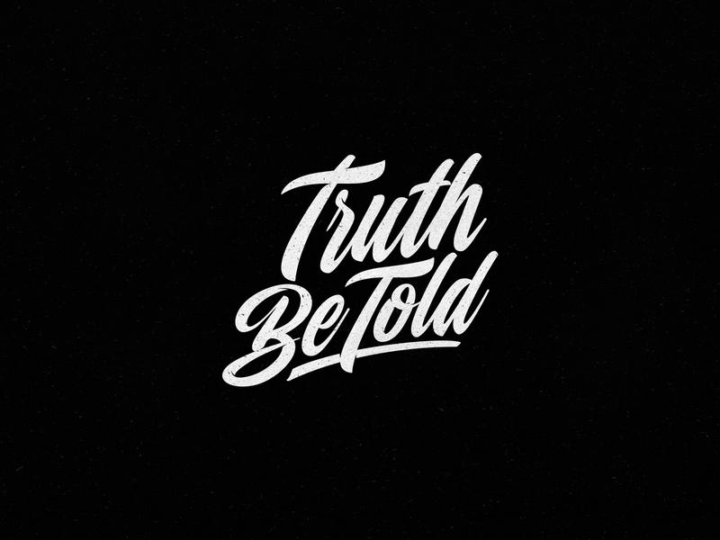 Truth Be Told african south africa logo maker logo designer logo freelance type art graphiste graphic design cross type design christ gospel church christian truth calligraphy lettering typography type