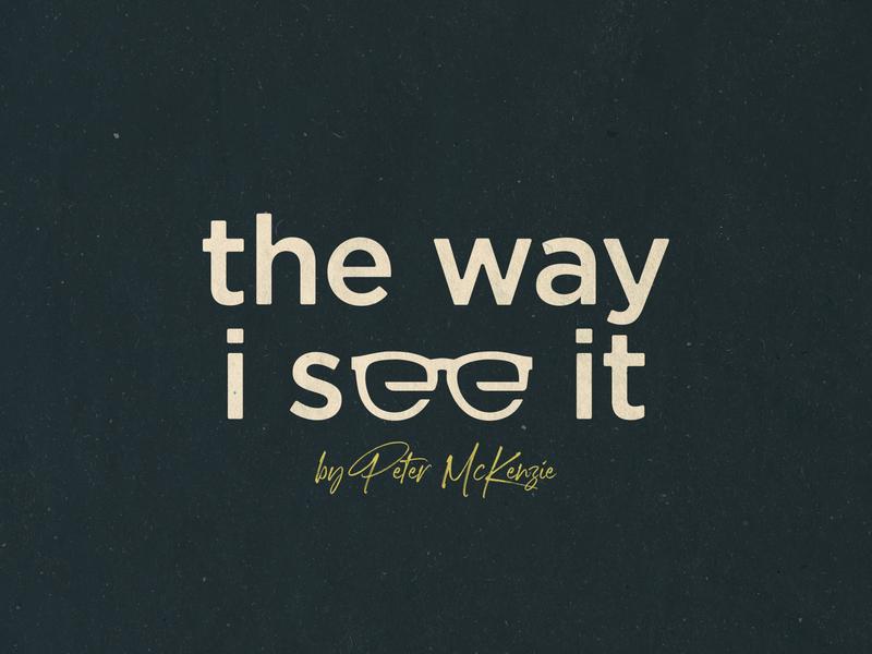 The Way I See It Podcast freelance graphic design graphiste simple glasses truth jesus gospel church christian branding logo designer logo design logo podcast logo podcast art podcasting podcast