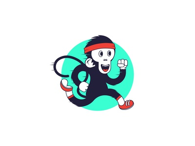 See Monkey Run fun health fitness sports lockdown art lockdown coronavirus trail run trail run monkey adobe digital illustrator digitalart illustrations graphic design design illustration art illustrator illustration