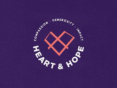 Heart & Hope Logo logo design branding brand designer branding zimbo africa illustrator freelance minimal design logo designer generosity compassion charity heart logo mark logo maker logo design logo