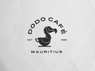 Dodo Café Final Logo illustration graphic design cafe logo branding logomark logomaker logodesign coffee cup logo dodo coffeebeans caffeine café coffee