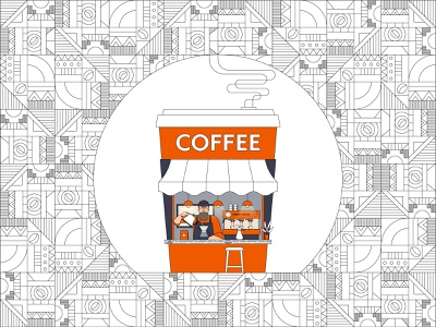 Coffee House vector coffee beans caffe cafe african pattern africa african barista coffee cup line illustration line art specialty coffee takeaway coffee coffee addict coffee lover caffeine coffee