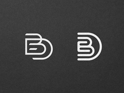 EBD Monogram exclusive premium minimal brand mark logo mark brand typography type lettering icon monogram logo maker logo
