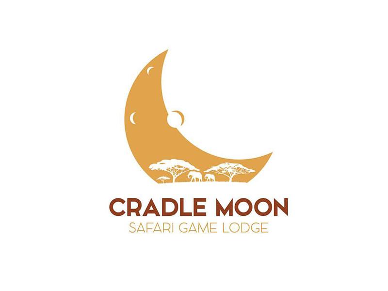 Cradle Moon elephant design logo cradle moon africa lodge game safari