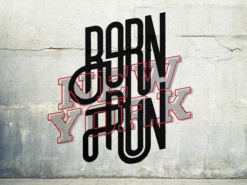 Compressport Born To Run NY compressport activewear active health type graphic design ny grafitti street art lettering typography sport fitness new york marathon running born to run