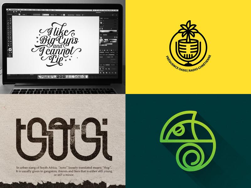 2018 Top 4 café coffee radio south africa calligraphy illustrator africa zimbabwe icon branding restaurant type monogram simple illustration minimal design typography lettering logo