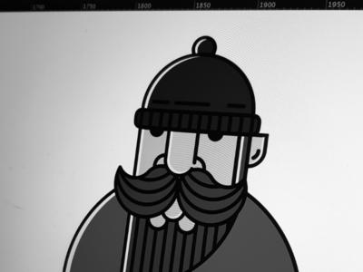 Weekend WIP-ing adobe weekend zimbo graphiste graphic design freelance minimal line art character design line illustration illustrator illustration lumberjack beard