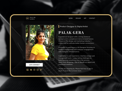 Landing page cover of my personal website personal website portfolio brand website design figma sketch dark ui product uiux personal brand branding ui user interface website cover design landing page contest vector visual design design