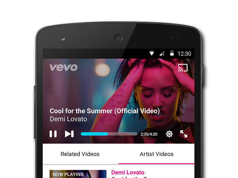 Vevo Player by Hannah Coughlin on Dribbble