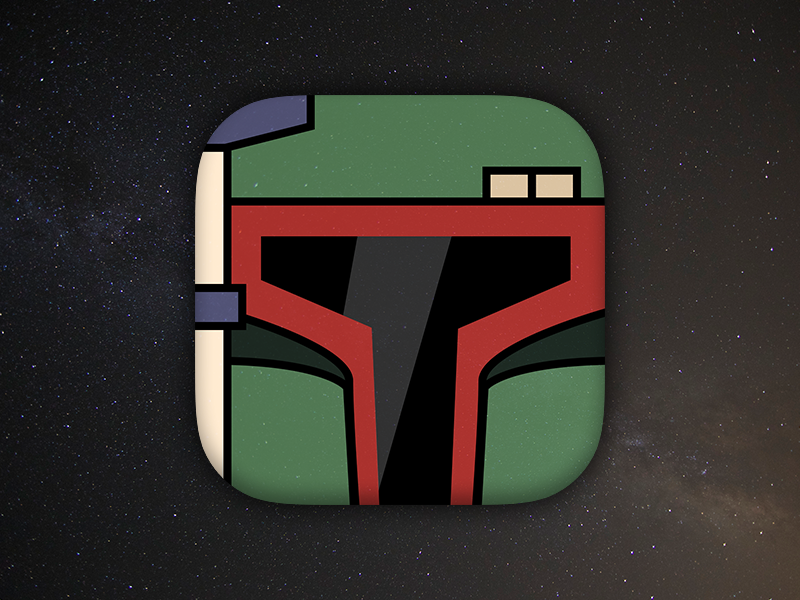 Daily UI #005 - App Icon stars boba fett star wars app icon 005 daily ui