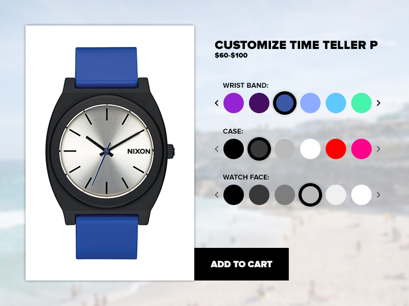 Daily UI #033 - Customize Product product customize 033 daily ui