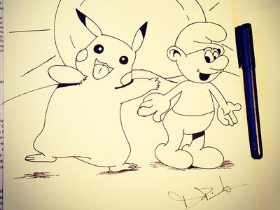 Pokemon x Smurfs