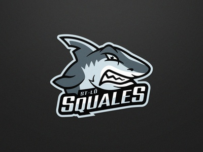 Squales - Roller Hockey - Logo 1 vector illustration ice hockey roller hockey inline hockey team logo sports logo hockey sports branding mascot