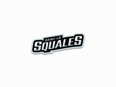 Squales - Roller Hockey - Logo 3 typography vector illustration ice hockey roller hockey inline hockey team logo sports logo hockey sports branding