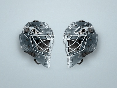 Squales - Roller Hockey - Goalie mask