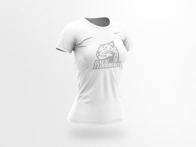 Caen Floorball - Women t-shirt branding design vector illustration floorball team logo sports logo mascot sports branding