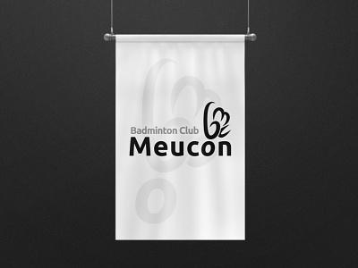 Badminton Club Meucon - Wordmark Logo badminton team logo sports logo sports branding