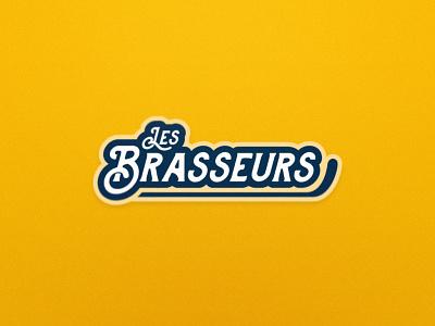 Brasseurs - Roller Hockey - Secondary/Wordmark Logo logo design wordmark roller hockey inline hockey hockey team logo sports logo sports branding
