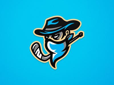 Outlaws - Roller Hockey - Mascot Logo design illustration roller hockey inline hockey hockey mascot team logo sports logo sports branding