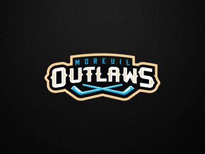 Outlaws - Roller Hockey - Secondary Logo vector design illustration roller hockey inline hockey hockey mascot team logo sports logo sports branding
