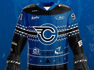 Corsaires de Nantes - Winter Jersey christmas winter jersey ice hockey sports