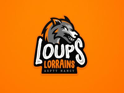 Loups Lorrains - Floorball - Primary Logo logo floorball sports branding sports logo mascot team logo