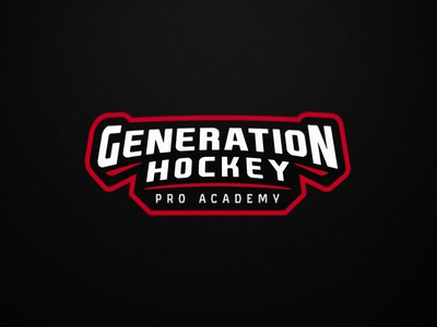Generation Hockey - Ice Hockey - Secondary logo logo illustration design ice hockey hockey team logo sports logo sports branding