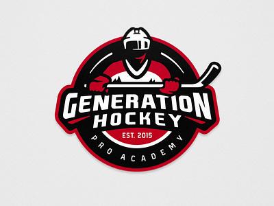Generation Hockey - Ice Hockey - Primary logo logo design illustration ice hockey hockey team logo sports logo sports branding