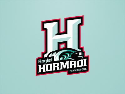 Hormadi Anglet - Ice Hockey - Primary logo visual identity graphic identity sports ice hockey magnus logo design illustration hockey team logo sports logo sports branding