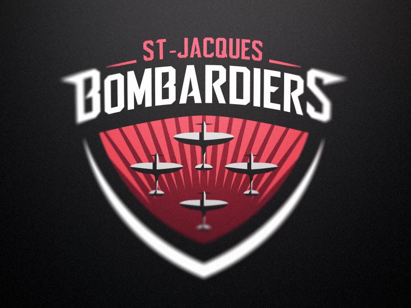 Bombardiers - St-Jacques Roller Hockey Club - Logo 2 hockey roller hockey inline hockey team logo mascot sports branding sports logo