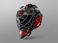 Dragons Hockey Goalie Mask