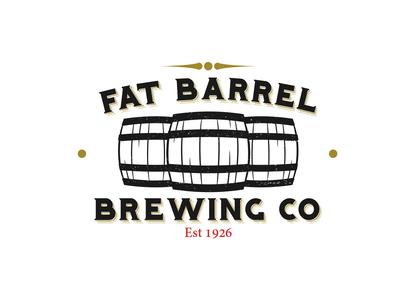 Fat Barrel Brewing Co digital art creation photoshop illustrator adobe graphic  design vector branding design logo